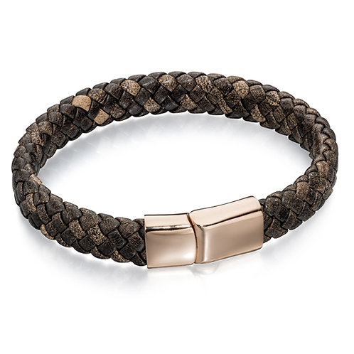 Fred Bennett Rose Gold Brown Bracelet - B4685