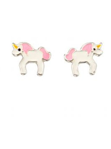 Silver Unicorn Stud Earrings - A2032