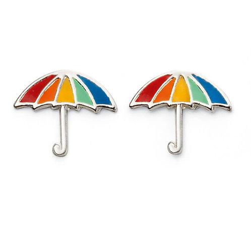 Rainbow Umbrella Earrings - A2024