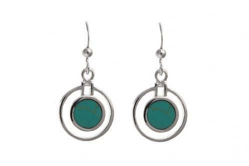 Silver Turquoise drop -BP0484