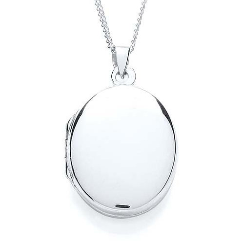 Silver Plain Oval Locket - PUR0879-2