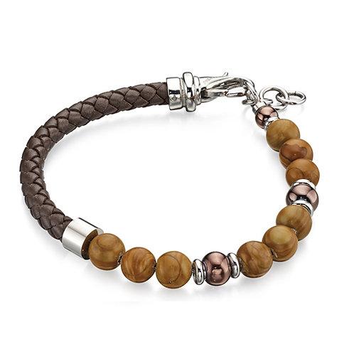 Fred Bennett Brown Leather Bracelet - B4872
