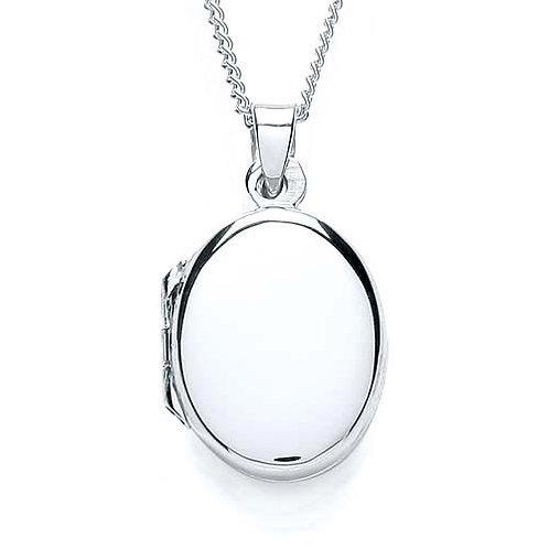 Silver Plain Locket - PUR0873-2