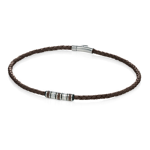 Fred Bennett Brown Leather Necklace - N3451