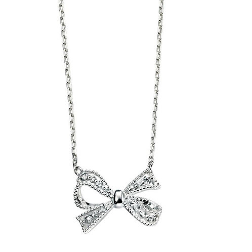 Elements Silver Bow Necklace - N3606C