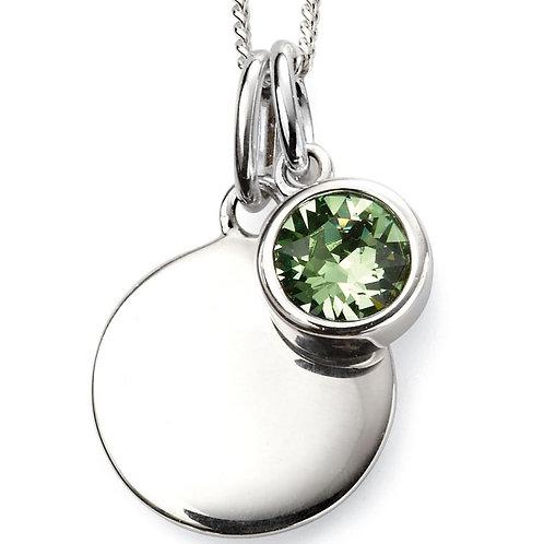 Silver Peridot Pendant- P4597
