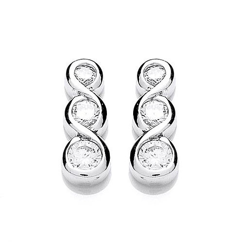 Cubic Zirconia Stud Earrings - PUR1310ES