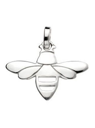 Bee pendant and 18inch Silver curb chain  - P4488
