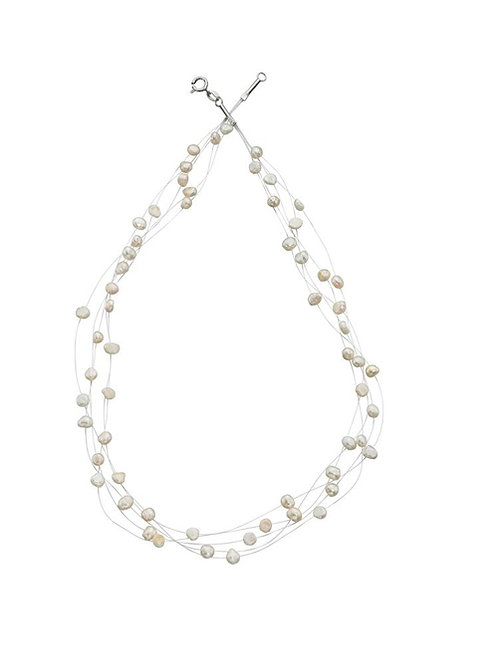 Floating Pearl Necklace - N3149W