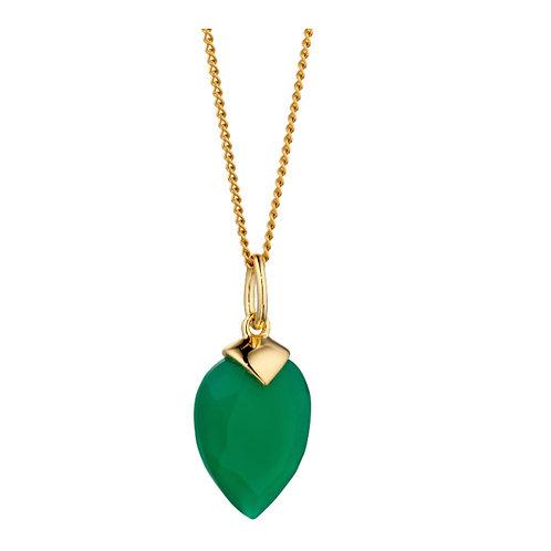 Emerald Chalcedony Birthstone Pendant (May) - P4979