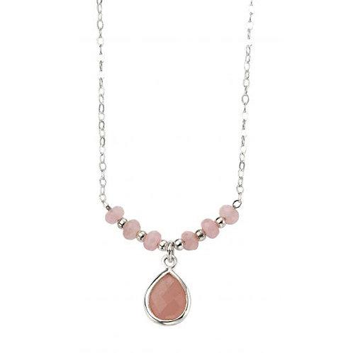 Silver and Rose Quartz Pendant - N4091