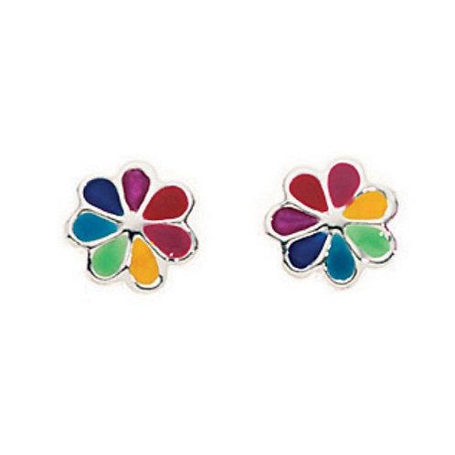 Rainbow Flower Earrings - A632