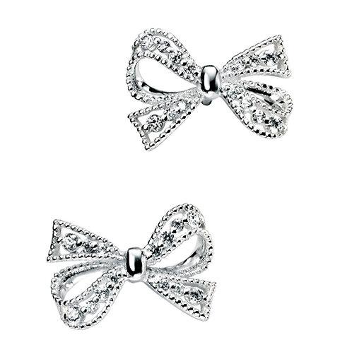 Elements Silver Bow Earrings - E4692C