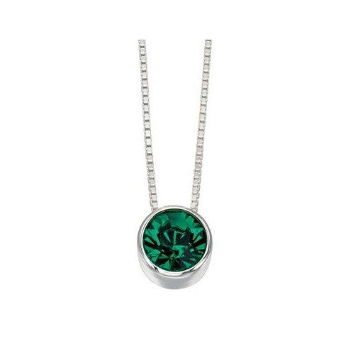 Round Emerald Coloured Pendant - P4175G
