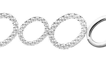 Silver White CZ Oval Bracelet - SL1384WCZ