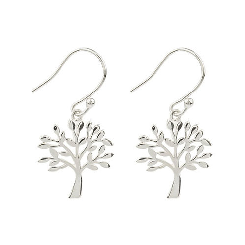 Silver Tree of Life Drop Earrings - XSS-2086