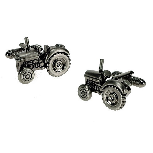 Burnished Silver Tractor Cufflinks - CK266