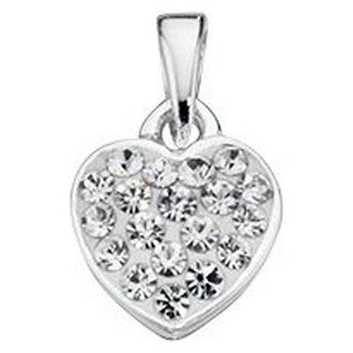 White crystal heart pendant and 18inch chain  - P3298c