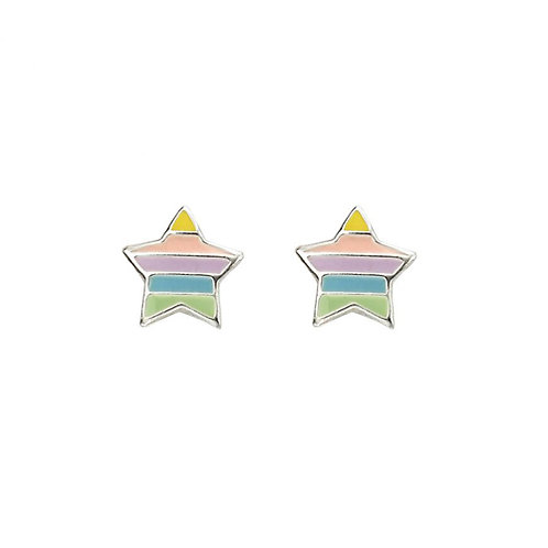 Rainbow Star Earrings - A2056