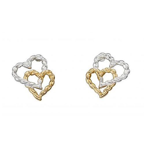 Double Rope Heart Earrings - E5492