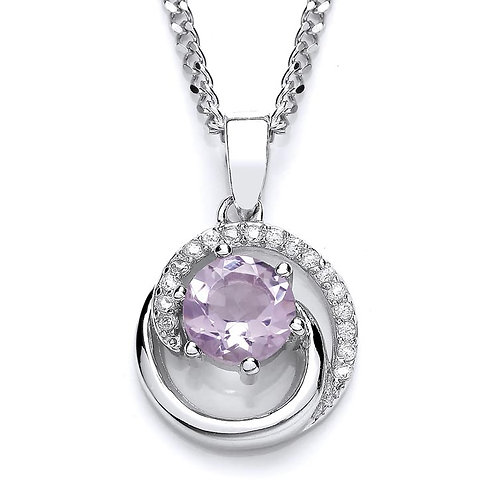Silver Real Amethyst Pendant - NSNEXCELAMCZPEND