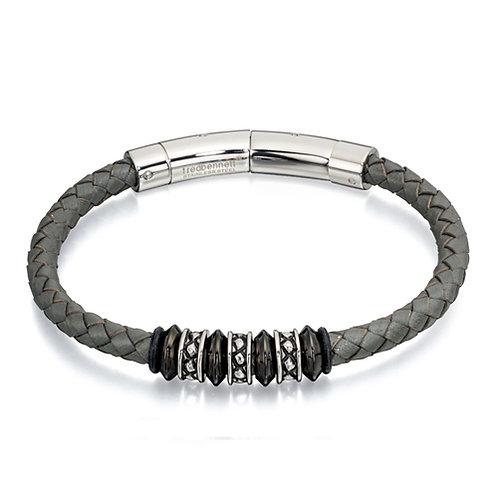 Fred Bennett Grey Bead Bracelet - B4728