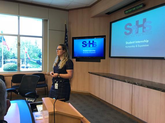 Silver Oak High School Student Internship  Partnership & Expansion Presentation to the ACC Membe