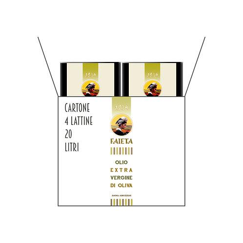1 Cartone da 4 Lattine di olio extravergine di oliva