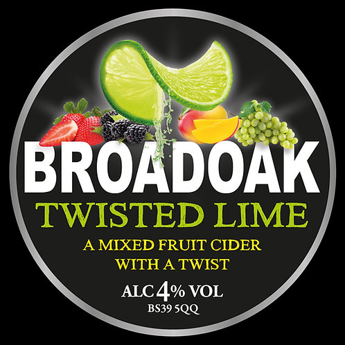 Broadoak Twisted Lime Cider Bag-in-Box