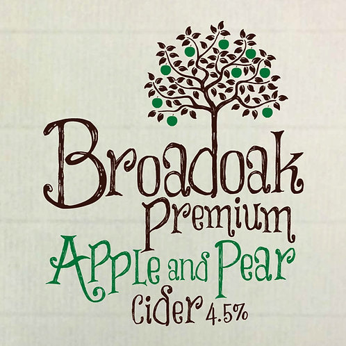 Broadoak Premium Apple and Pear Cider 500ml Glass (pack of 8)