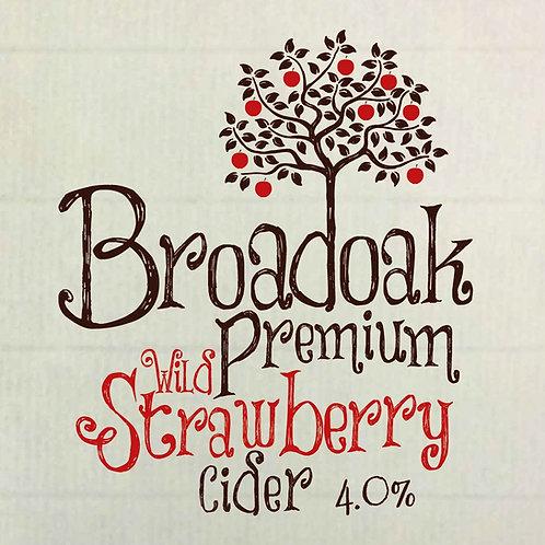 Broadoak Premium Wild Strawberry Cider 500 ml Glass (pack of 8)