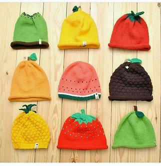 Bonnets fuits en tricot