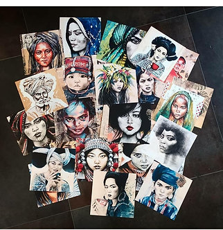 Cartes postales de l'illustratrice Stéphanie Ledoux