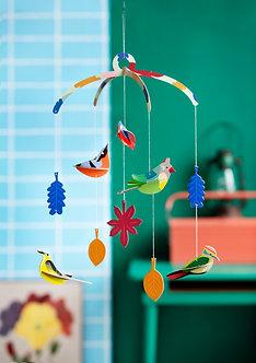 Mobile oiseaux, kit déco 3D