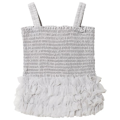 DOLLY by Le Petit Tom ® FRILLY TOP silver grey