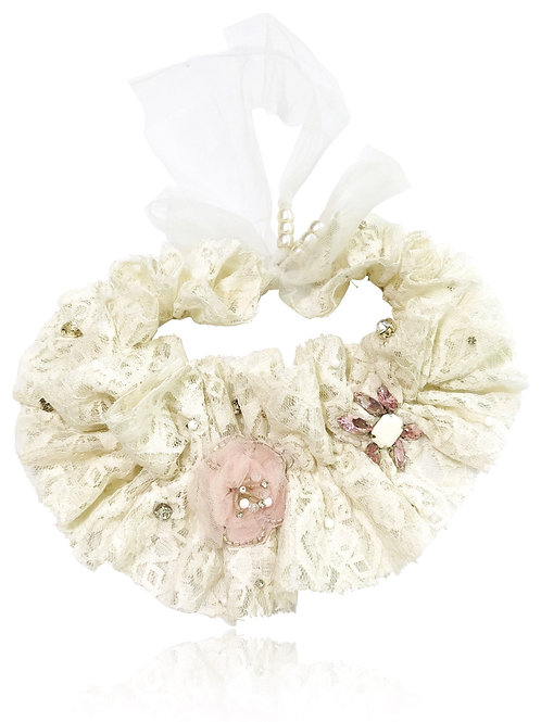 DOLLY by Le Petit Tom ® ANGELS lace flower neck ruffle