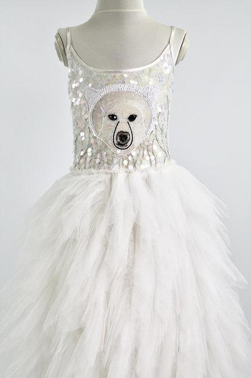 DOLLY by Le Petit Tom ® ICE BEAR tutu dress white