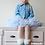 Thumbnail: DOLLY by Le Petit Tom ® ALICE IN WONDERLAND PETTISKIRT light blue