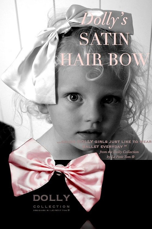 DOLLY by Le Petit Tom ® CLASSIC SATIN HAIRBOW