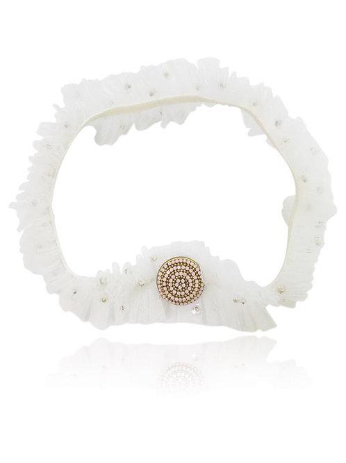 DOLLY by Le Petit Tom ® BOHO headband pink stone off-white