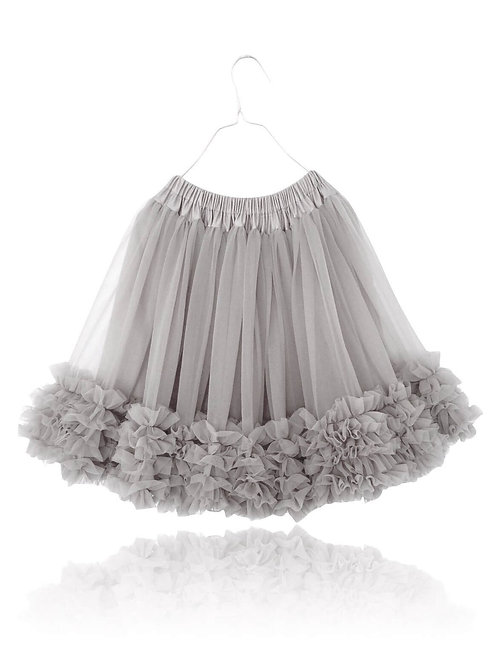 DOLLY by Le Petit Tom ® FRILLY SKIRT silver-grey