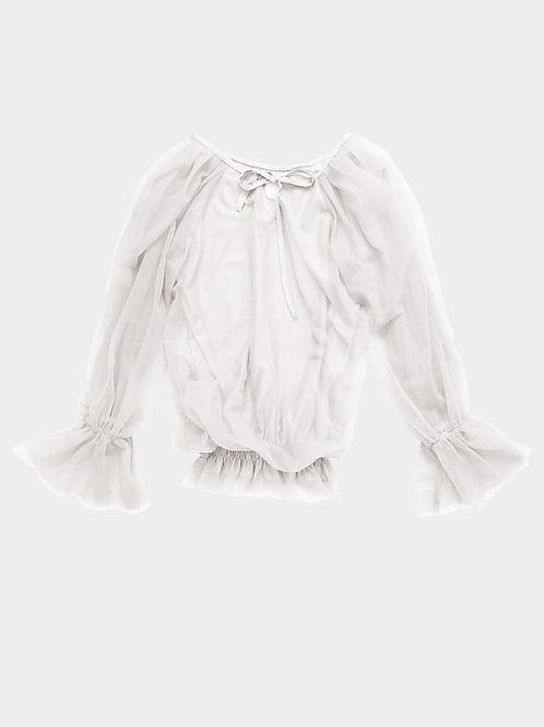 DOLLY by Le Petit Tom ® FAIRY TOP LONGSLEEVE white