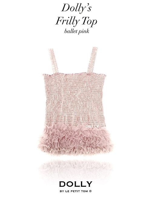 DOLLY by Le Petit Tom ® FRILLY TOP ballet pink