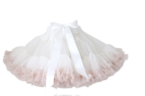 DOLLY BY LE PETIT TOM ® SWEET QUEEN PETTISKIRT white - ballet pink