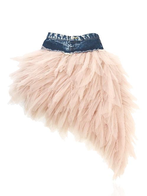 DOLLY by Le Petit Tom ® ANGELS denim waist tutu flamingo angel