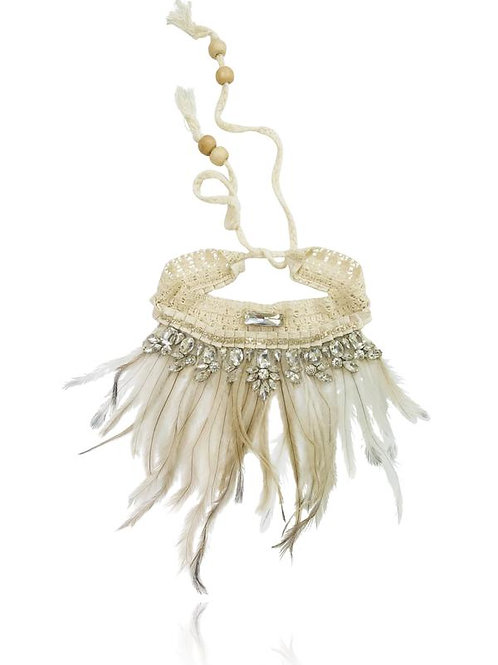 DOLLY by Le Petit Tom ® BOHO feather necklace