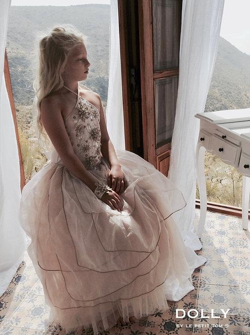 DOLLY by Le Petit Tom ® BELLE tutu dress champagne petal pink