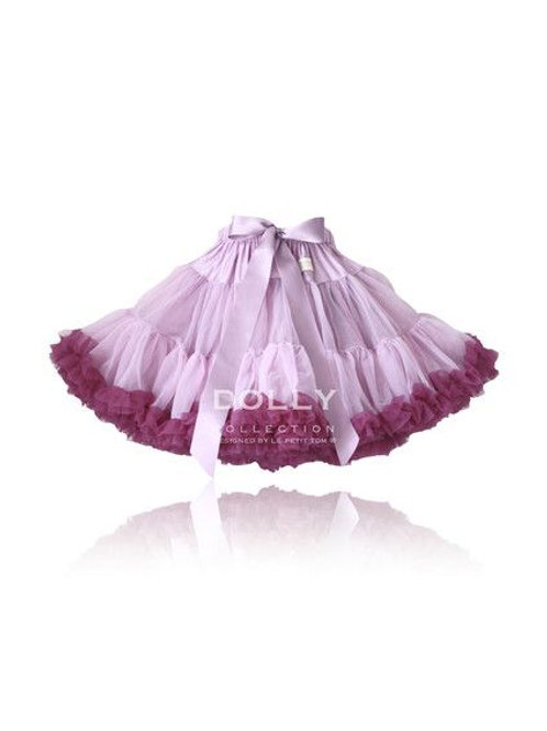 DOLLY BY LE PETIT TOM ® QUEEN OF THE HARVEST PETTISKIRT violet aubergine