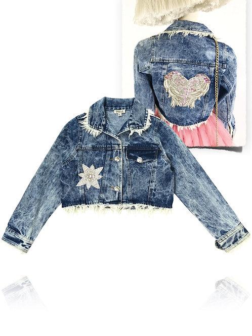 DOLLY by Le Petit Tom ® ANGELS star angel denim jacket