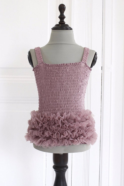 DOLLY by Le Petit Tom ® FRILLY TOP mauve